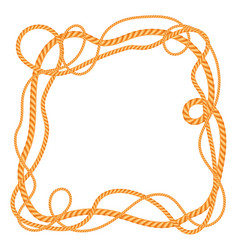 frame with marine rope vector image