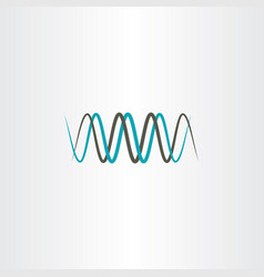 Frequency wavelength logo symbol vector