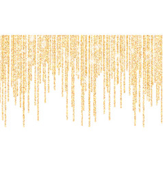Golden glitter sparkle on a transparent vector