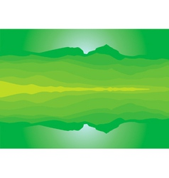 Green mountain landscape silhouette vector