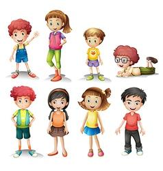 Group kids vector