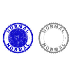 Grunge normal textured stamp seals vector