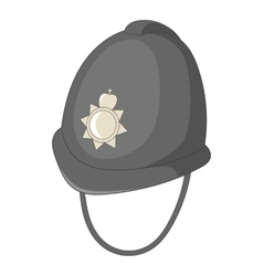Headdress of english police icon cartoon style vector