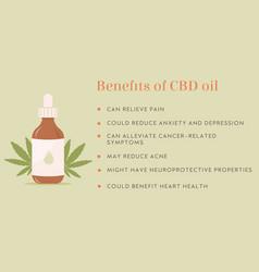 Infographic benefit cbd hemp oil web banner vector