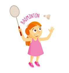 Kinds of sports athlete badminton vector