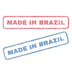 Made in brazil textile stamps vector