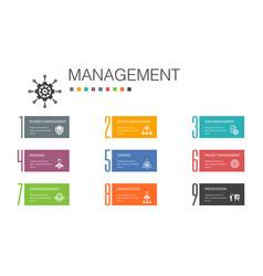 Management infographic 10 option line concept vector