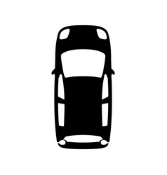 Midget black car top view icon isolated on white vector