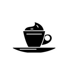 mokachino black icon sign on isolated vector image