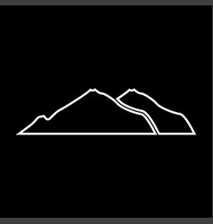 mountain white color icon vector image