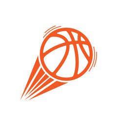orange basketball move vector image