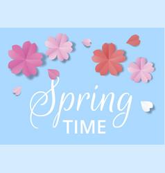 paper flowers vector image