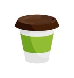 Plastic coffee cup icon cartoon style vector