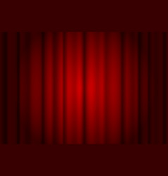 red curtains wide background illuminated a beam vector image