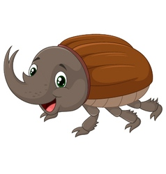 Rhinoceros beetle vector