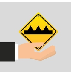 Road sign warning icon design vector