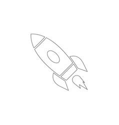 rocket flat icon vector image