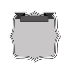 round badge icon vector image