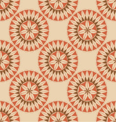 Seamless retro circular ornament-03 vector
