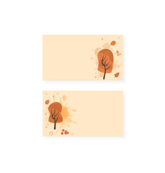 set of autumn backrounds vector image