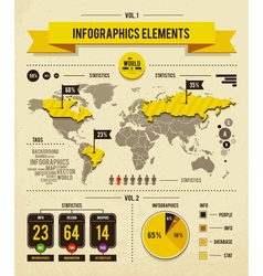 Set of infographics vector