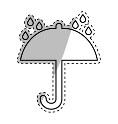 Shipping umbrella symbol vector image