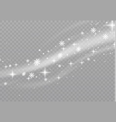 Snow and wind vector