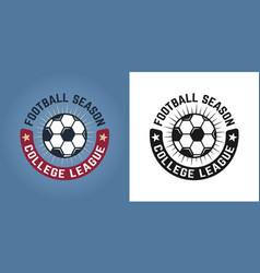 soccer set of two styles emblem or badge vector image