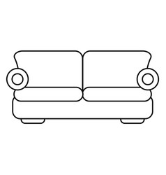 Sofa comfor furniture thin line vector