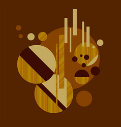 Sophisticated geometric element with wood texture vector