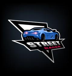 Street racer symbol emblem vector