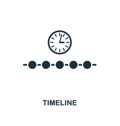 timeline icon creative element design from vector image