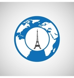 Traveling world paris monument design graphic vector