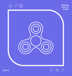 Tri spinner line icon graphic elements for your vector