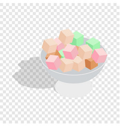 Turkish delight isometric icon vector