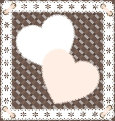 Two heart-lace vector