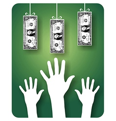 Unreachable money vector image
