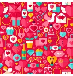 Valentine Day Red Seamless Pattern vector image