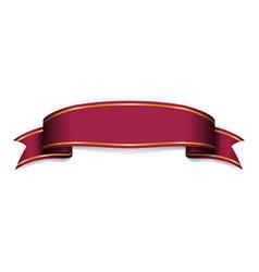 Vinous ribbon banner satin blank design label vector