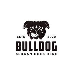 vintage retro bulldog logo icon vector image