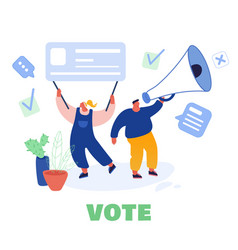 voting and election concept template design pre vector image