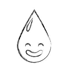 Water drop kawaii character vector