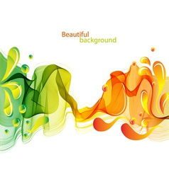 abstract wave and drops vector image vector image