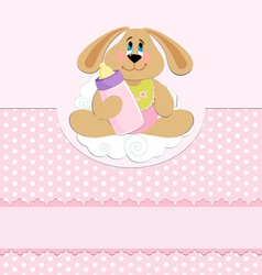 babys greetings card vector image vector image
