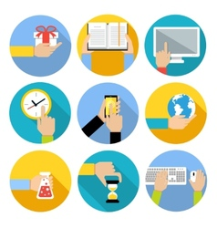 Business hands icons vector