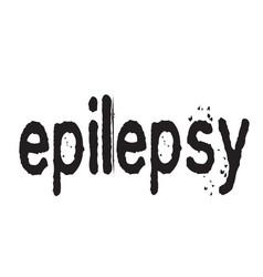 Epilepsy stamp typ vector