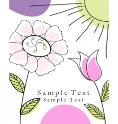 greetings card vector image vector image