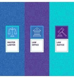 Line law justice patterns set vector
