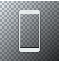 modern smartphone with empty screen on vector image