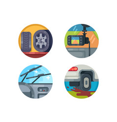 set of auto icons vector image